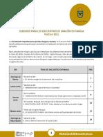SUBSIDIOS PARA LOS ENCUENTROS DE ORACIÓN EN FAMILIA PASCUA 2021