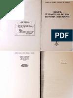 Sergipe - Fundamentos de uma Economia Dependente (Maria da Glória Santana Almeida, 1984)