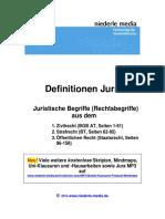Jura Definitionen