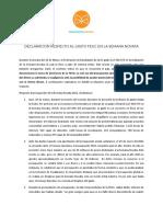 Declaración MGUC Gasto de la FEUC