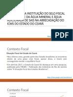 Impacto Da Instituição Do Selo Fiscal de Controle de Água (13 11 2017)