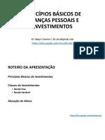 Princípios Básicos de Finanças Pessoais e Investimentos (03 12 2020)
