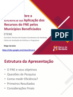 Um Ensaio Sobre a Eficiência Da Aplicação Dos Recursos Do FNE Pelos Municípios Beneficiados (05 07 2018)