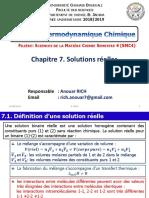 Cours Thermo Chapitre 7. Solutions Réelles 2019