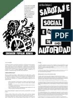 Sabotaje Social e Instrumentos de Autoridad