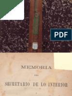 Memoria Del Secretario de Lo Interior i Relaciones Esteriores Al Congreso de Colombia