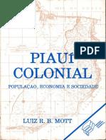 Piauí Colonial- População, Economia e Sociedade (Luiz Mott, 1985)