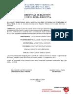 Credencial Junta Directiva Apv