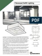 LSI Pinehurst Recessed Soffit Series Spec Sheet 11-84