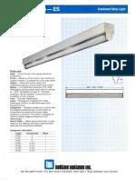 LSI Esquire Series Fluorescent Spec Sheet 1987