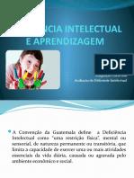 SLIDES - DEFICIׂNCIA INTELECTUAL E APRENDIZAGEM