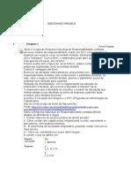 INSTITUIÇÕES de DIREITO Questionario Unidade 3 unip
