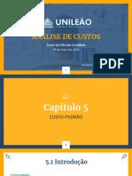 CAPITULO 5 - ANALISE DE CUSTOS