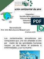 Contaminación de aire