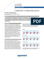 Calibration and adjustment of dipsensing systems in the laboratory