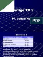 Corrigé TD 2 COMPINTER