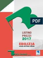EDILIZIA. estratto dal listino ufficiale. S.p.A.