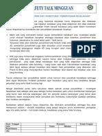 Topik 8 Pentingnya Pelaporan dan Investigasi Kecelakaan.doc
