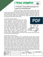 Topik 27 Faktor Pribadi yg mempengaruhi terjadinya kecelakaan