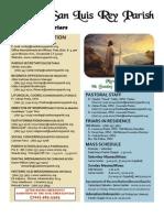 Mission San Luis Rey Parish Bulletin for 3-6-2011