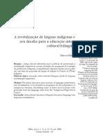 A Revitalizacao de Linguas Indigenas e s