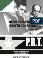 Resoluciones del Quinto Congreso del PRT