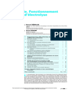 Techniques de l'Ingénieur - Electrochimie. Fonctionnement des cellules d'électrolyse