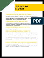 Synthèse PLF 2021