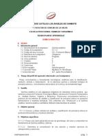 Sílabus/plan  Química analítica