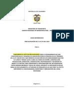 Aviso informativo precalificación de la ANI sobre navegabilidad del Río Magdalena