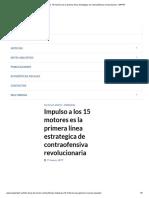 Impulso a Los 15 Motores Es La Primera Línea Estrategica de Contraofensiva Revolucionaria - MPPEF