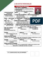 FICHA DE DATOS PERSONALES SARGENTOS 12122018
