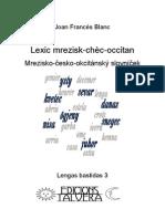 Joan Francés BLANC. Lexic mrezisk-chèc-occitan