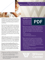 Maternal Health Policy Brief - Wilson Center Maternal Health Initiative