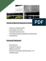 Formas Jurídicas de empresas en Uruguay