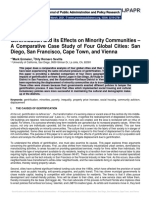 Gentrification and its Effects on Minority Communities – A Comparative Case Study of Four Global Cities
