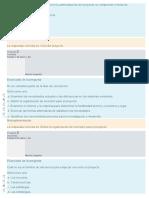 A Gestión de Planificación y Calidad en La Administración Del Proyecto No Comprende El Tema De