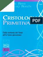 [Studi Biblici 46] Walther Binni, B. Gianluigi Boschi - Cristologia Primitiva. Dalla Teofania Del Sinài All'Io Sono Giovanneo (2004, EDB) - Libgen.li