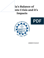 Report on India's Balance of Payments Crisis and it's Impacts