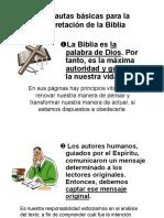 7. Un Resumen de las Pautas Básicas para la Interpretación de la Biblia