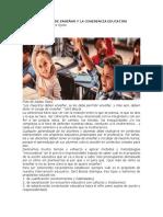 EL CORAJE DE ENSEÑAR Y LA COHERENCIA EDUCATIVA