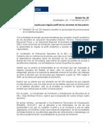 17-02-11 SEJ Boletin Rueda de Prensa Cursos Sec Und Arias