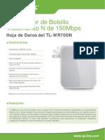 TL-WR700N V1.0 Datasheet Mx