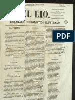 El Lío 01 7 de febrero de 1874