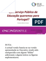 Que Serviço Público de Educação para Portugal