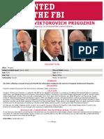 Yevgeniy Vicktorovich Prigozhin