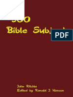 500 Bible Subjects_ With Sugges - John Ritchie