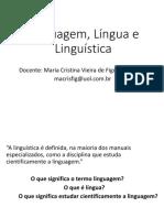 Linguagem, Língua e Linguística - AULA 3 (Sem Relaçãoes Com Outras Ciências)