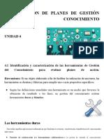 IMPLANTACIÓN DE PLANES DE GESTIÓN DEL CONOCIMIENTO-Presentación  U4 GC