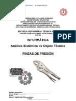 Análisis Sistémico de Objeto Técnico Las Pinzas de Presión